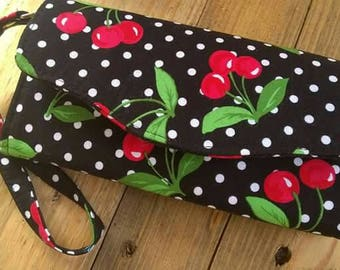 MADE TO ORDER Cherry Cherries Rockabilly Clutch Wallet