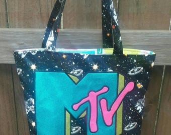 MADE TO ORDER Mtv 80s 90s Retro Astronaut Tote