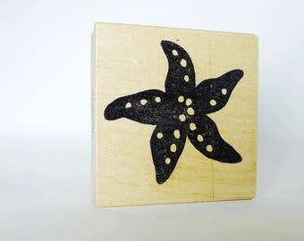 Starfish Rubber Stamp, Star Fish Stamp Card Making Decor, Ocean Sea Life Craft Shape, Vacation Craft, Sea Creature Decor Shape Hot Potatoes