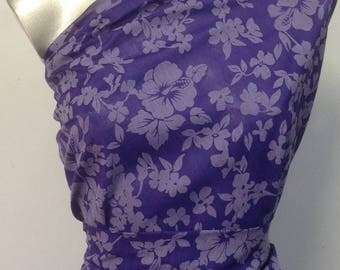 coupon of 3 meters pattern Floral Devore 100% cotton width: 140 cm making.