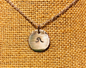 Stamped Wave Necklace