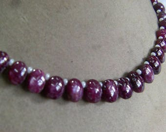 1 Strand  Indian Ruby star   Natural  beads 23, grams 7X8, 9X11, MM