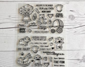 pregnancy planner, pregnancy stamps, baby stamps, baby journal, stamps of babies, baby scrapbook, baby project life, pregnancy journal