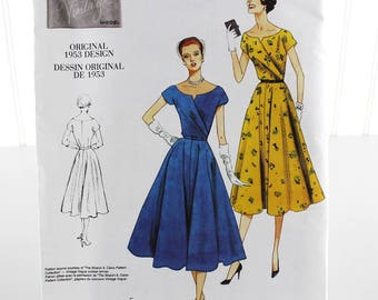 Vogue 1953 original design Dress Sewing Pattern, Uncut Sewing Pattern, Vogue V1043, Size 6-12