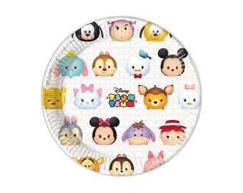Set of 8 Tsum Tsum party plates