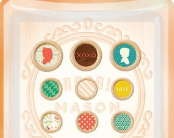 SET OF 12 DECORATIVE WITH EPOXY SCRAPBOOKING BUTTONS