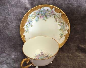 Vintage D G France Limoges Demitasse tea cup teacup