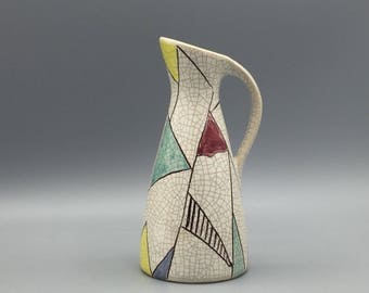 Silberdistel Keramik 338 /15 cute little  West Germany  vase 1950s  Mid Century Ceramic Pottery.  WGP.