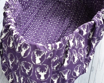 Deer head & arrows purple Child shopping cart cover, SALE hunting,woodland,deer, Baby shower gift, Grocery cart cover,nursery.