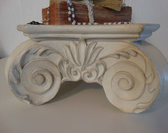 Pedestal, display,Scroll design Shabby Chic Cottage Decor