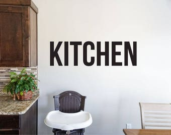 Kitchen - Vinyl Decal Wall Art Decor Sticker - Home Decor Kitchen Dining Area House Oven Fridge Sink Cooking Bar Table v3
