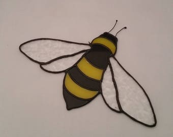 Stained Glass Bumble Bee - Bee Suncatcher - Glass Bee - Bumble Bee Decorations - Stained Glass Bee