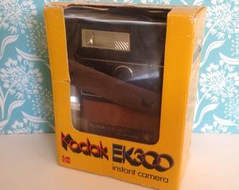Kodak camera, Kodak EK300, Polaroid EK 300. instant camera, Polaroid camera, NOS Kodak, NIB Polaroid, new old stock, new in box