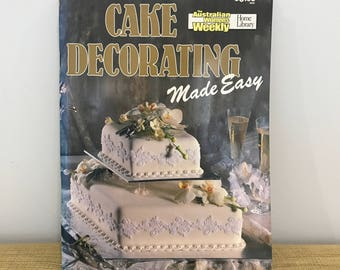 Australian Womens Weekly Cake Decorating, Softcover Book 1989. Vintage Craft Book.