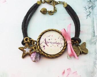 Bracelet cabochon Abracadabra