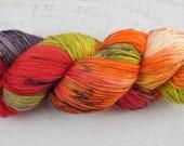 Hand Dyed 80/20 Merino Sock Yarn, High Beams, Indie Dyed Fingering Yarn for Knitting