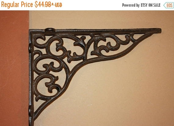 14% OFF 11 Inch Shelf Brackets, Heavy Duty Cast Iron