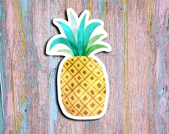 Pineapple decal, Pineapple sticker, Pineapple magnet, Planners, scrapbooking, Window Decal, tablet sticker, laptop sticker, notebook sticker