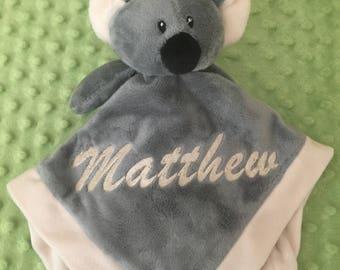Koala Security Blanket Lovey - Monogrammed