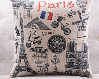 French Flag Pillow Etsy