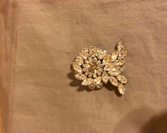 Stunning crystal brooch