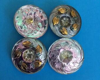 Vintage Buttons- Czech Glass 1950's
