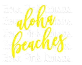 Aloha Beaches Vinyl Decal