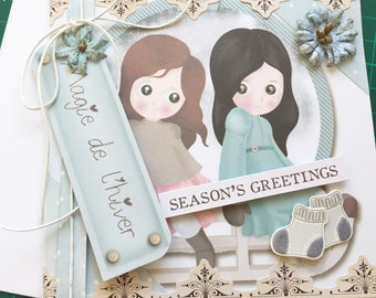 Card for various occasions Girl