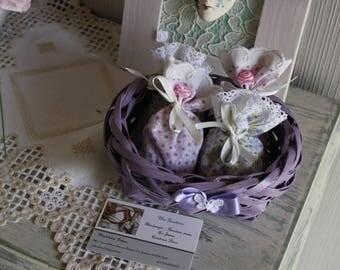 Basket of lavender bath salts