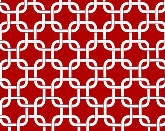 Red Valance. Red valence. Red and Gray Geometric  Valance .Window Topper.
