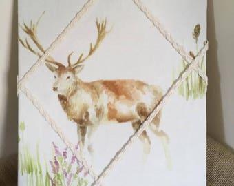 Handmade stag notice board