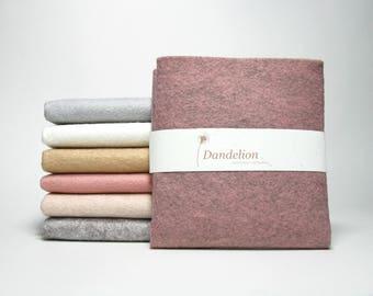 "7 Pieces of Dusty Pastel Wool Blend Felt Sheets 22.8cm x 30.4cm (9"" x 12"")"