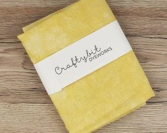 32ct Hand-dyed Glittery Zweigart Linen - Mustard