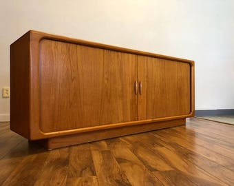 Dyrlund Danish Teak Sideboard with Tambour Doors