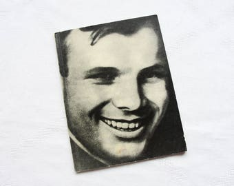 Yuri Gagarin - Vintage Soviet Book-album (In Russian), Softcover, 1971. First cosmonaut, Astronaut, Cosmos, Vostok 1, Photoalbum, Print