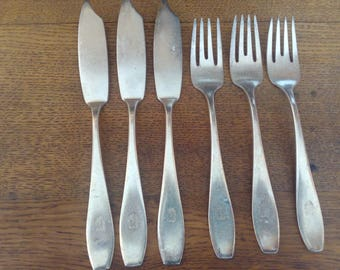 WMF fish cutlery for 3 people 6pcs. 90 Silver Edition