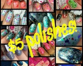 Bargain bin polishes (5 dollars)