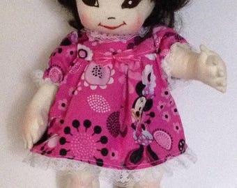 "15"" Chloe Jointed Handmade Cloth Doll"
