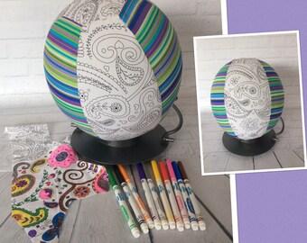 Colour Me, Balloon Ball Cove,r Handmade, Fabric, Sensory Toy, Kids Ball, Colouring In, Princess Paisley