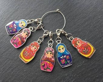 Russian Doll Stitch Markers For Knitters