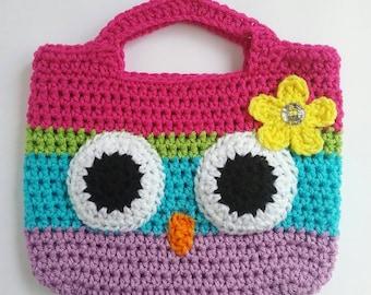 Owl Purse, Toddler Gift Girl, Custom Toddler Gifts, Toddler Purse, Rainbow Purse, Toddler Gift Ideas, Kids Purse, Girls Purse, Crochet Purse