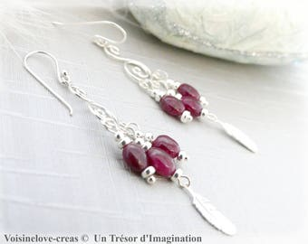 Rubus earrings and silver