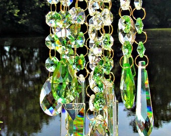 Crystal Wind Chime, Glass Wind Chime,  Sun Catcher,  Crystal Windchime,  Garden décor, Crystal Sun Catcher, Windchime, MWC 145