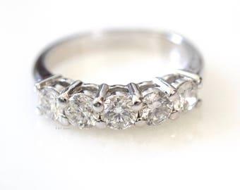 SALE! 1.31 Carat Diamond Band