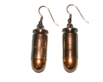 Bullet Earrings: 45CAL Nickel (1261-10-9647)