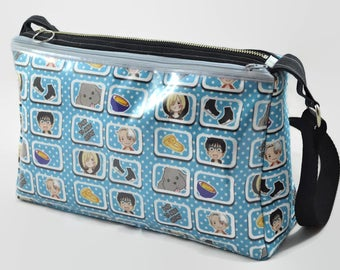 Yuri on Ice Ita Bag - Born to Make History - Crossbody Bag Inspired by Yuri on Ice - Pin Bag with Clear Vinyl Pocket