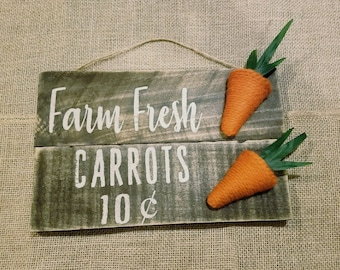 Farm Fresh Carrot Sign
