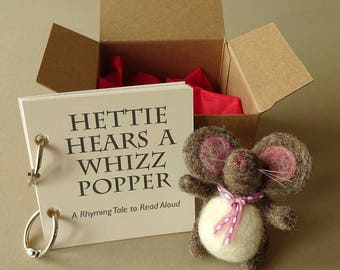 Birthday Book, Toddler Gift, Hettie Hears A Whizzpopper, Handmade Christening Gift, For Infants, Unique Story, Book for Kids, Baby Gift
