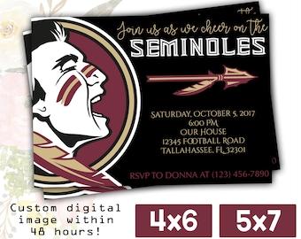 FSU Seminoles Watch Party Invitation