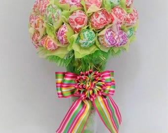Lollipop Bouquet Lollipop Tree Lollipop Malt Candy Bouquet mini Dum-Dums Candy bouquet Candy arrangement Motley Pink